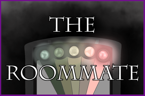 The Roommate title over an EMF reader