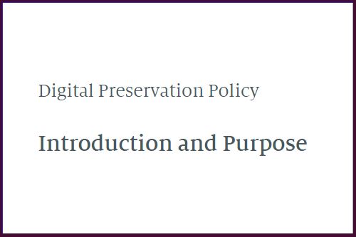 cover for the preservation policy